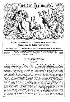 Aus der Heimath. Ein naturwissenschaftliches Volksblatt, 1863, No. 27.