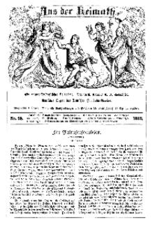Aus der Heimath. Ein naturwissenschaftliches Volksblatt, 1863, No. 28.