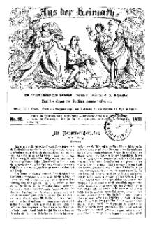 Aus der Heimath. Ein naturwissenschaftliches Volksblatt, 1863, No. 29.