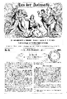 Aus der Heimath. Ein naturwissenschaftliches Volksblatt, 1863, No. 31.
