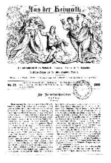 Aus der Heimath. Ein naturwissenschaftliches Volksblatt, 1863, No. 33.
