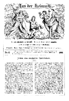 Aus der Heimath. Ein naturwissenschaftliches Volksblatt, 1863, No. 41.