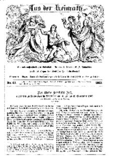 Aus der Heimath. Ein naturwissenschaftliches Volksblatt, 1863, No. 43.