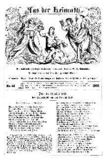 Aus der Heimath. Ein naturwissenschaftliches Volksblatt, 1863, No. 44.