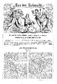 Aus der Heimath. Ein naturwissenschaftliches Volksblatt, 1863, No. 47.