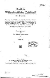 Deutsche wissenschaftliche Zeitschrift für Polen, 1929, H. 16.