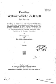 Deutsche wissenschaftliche Zeitschrift für Polen, 1929, H. 17.