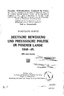 Deutsche wissenschaftliche Zeitschrift für Polen, 1931, H. 21.