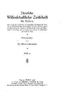Deutsche wissenschaftliche Zeitschrift für Polen, 1938, H. 35.