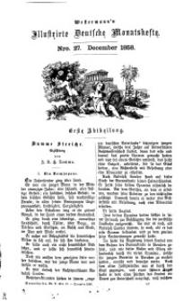 Westermann's Illustrirte Deutsche Monatshefte, [Bd. 4]. December 1858, Nro 27.