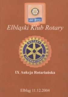 IX Aukcja Rotariańska - katalog, 2004