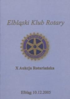 X Aukcja Rotariańska - katalog, 2005