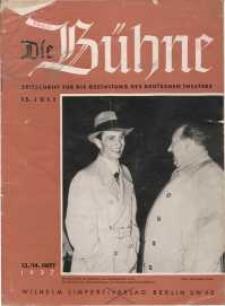 Die Bühne. Jg. 3, 1937, H. 13/14