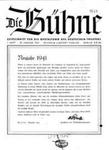 Die Bühne. Jg. [7], 1941, H. 1