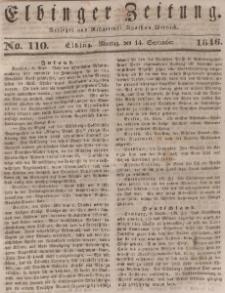 Elbinger Zeitung, No. 110 Montag, 14. September 1846