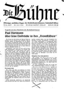 Die Bühne. Jg. [9], 1943, H. 13/14