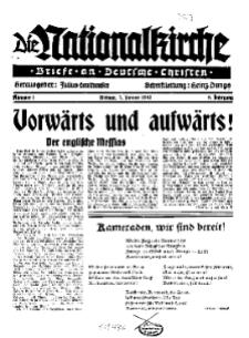 Die Nationalkirche : Briefe an Deutsche Christen, Jg. 9, 1940, H. 1.