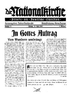 Die Nationalkirche : Briefe an Deutsche Christen, Jg. 9, 1940, H. 16.