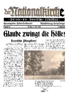 Die Nationalkirche : Briefe an Deutsche Christen, Jg. 9, 1940, H. 18.