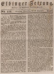 Elbinger Zeitung, No. 114 Donnerstag, 24. September 1846