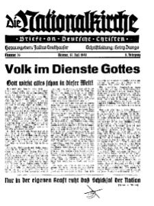 Die Nationalkirche : Briefe an Deutsche Christen, Jg. 9, 1940, H. 26.