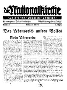 Die Nationalkirche : Briefe an Deutsche Christen, Jg. 9, 1940, H. 28.