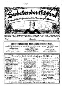 Sudetendeutschland : Zeitschrift für die sudetendeutsche Bewegung im Auslande, 1931, H. 7