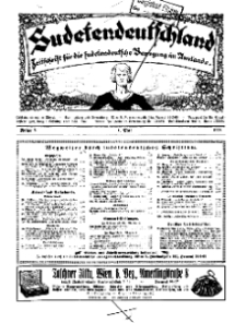 Sudetendeutschland : Zeitschrift für die sudetendeutsche Bewegung im Auslande, 1928, H. 5