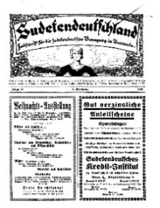 Sudetendeutschland : Zeitschrift für die sudetendeutsche Bewegung im Auslande, 1928, H. 12