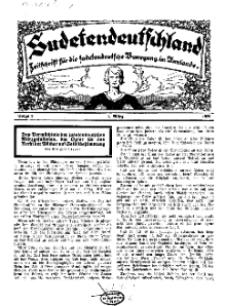 Sudetendeutschland : Zeitschrift für die sudetendeutsche Bewegung im Auslande, 1929, H. 3