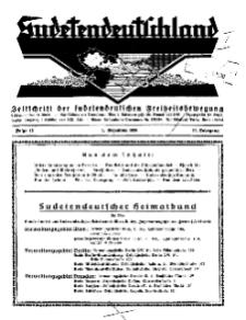Sudetendeutschland : Zeitschrift für die sudetendeutsche Bewegung im Auslande, 1930, H. 12