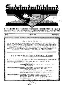 Sudetendeutschland : Zeitschrift für die sudetendeutsche Bewegung im Auslande, 1931, H. 2