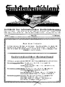 Sudetendeutschland : Zeitschrift für die sudetendeutsche Bewegung im Auslande, 1931, H. 4