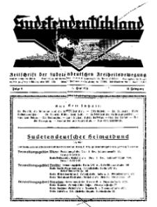 Sudetendeutschland : Zeitschrift für die sudetendeutsche Bewegung im Auslande, 1931, H. 6