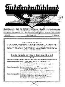 Sudetendeutschland : Zeitschrift für die sudetendeutsche Bewegung im Auslande, 1931, H. 7-8