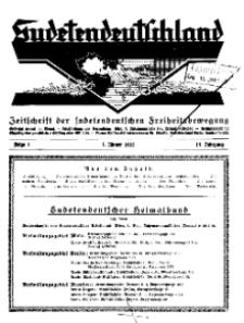 Sudetendeutschland : Zeitschrift für die sudetendeutsche Bewegung im Auslande, 1932, H. 1