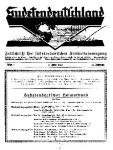 Sudetendeutschland : Zeitschrift für die sudetendeutsche Bewegung im Auslande, 1932, H. 2