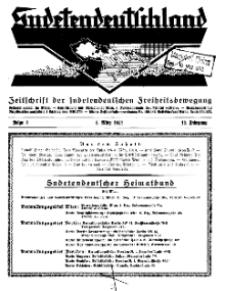 Sudetendeutschland : Zeitschrift für die sudetendeutsche Bewegung im Auslande, 1932, H. 3