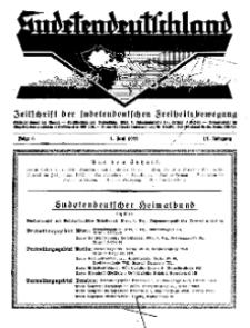 Sudetendeutschland : Zeitschrift für die sudetendeutsche Bewegung im Auslande, 1932, H. 6