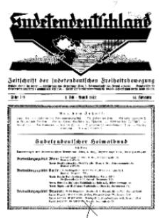 Sudetendeutschland : Zeitschrift für die sudetendeutsche Bewegung im Auslande, 1932, H. 7/8