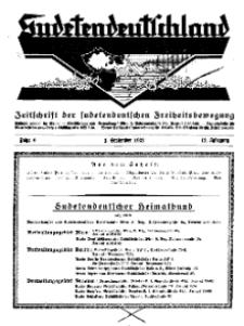 Sudetendeutschland : Zeitschrift für die sudetendeutsche Bewegung im Auslande, 1932, H. 9