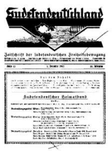 Sudetendeutschland : Zeitschrift für die sudetendeutsche Bewegung im Auslande, 1932, H. 12