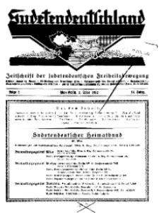 Sudetendeutschland : Zeitschrift für die sudetendeutsche Bewegung im Auslande, 1933, H. 2