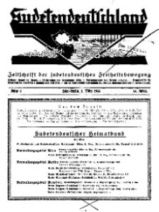 Sudetendeutschland : Zeitschrift für die sudetendeutsche Bewegung im Auslande, 1933, H. 3