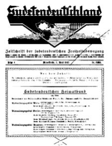 Sudetendeutschland : Zeitschrift für die sudetendeutsche Bewegung im Auslande, 1933, H. 4