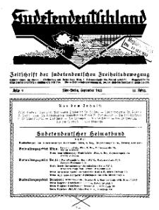 Sudetendeutschland : Zeitschrift für die sudetendeutsche Bewegung im Auslande, 1933, H. 9