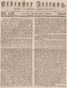 Elbinger Zeitung, No. 119 Montag, 5. Oktober 1846