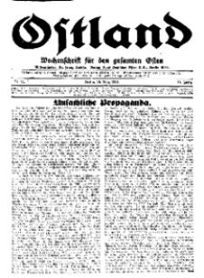 Ostland : Wochenschrift für den gesamten Osten, Jg. 15, 1934, Nr 11.