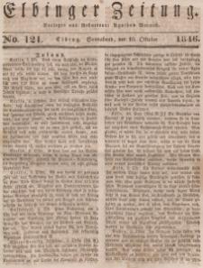 Elbinger Zeitung, No. 121 Sonnabend, 10. Oktober 1846
