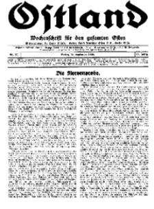 Ostland : Wochenschrift für den gesamten Osten, Jg. 15, 1934, Nr 37.